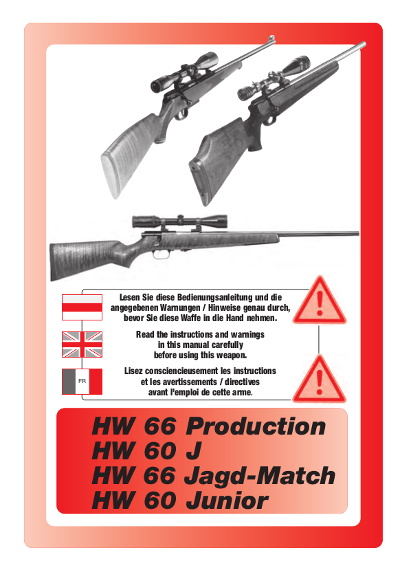 HW 66 Prod., HW 60 J, HW 66 JM de, fr, engl.
